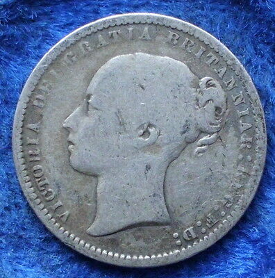 UK - silver shilling 1872 KM# 734.2 Victoria (1837-1901) - Edelweiss Coins