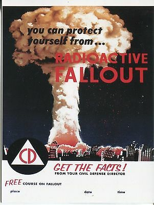Post Card Of The Civil Defense Poster Protect Yourself From Radioactive Fallout