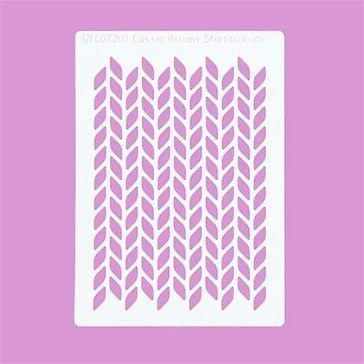 Cakecraft Purl Knit Stencils By Cassie Brown for Cake Decorating