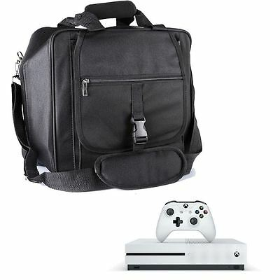 New Black Premium Console Travel Carrying Case In-Car Bag For Xbox One S
