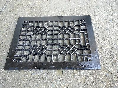 "Vintage VICTORIAN Cast Iron Floor Grille Heat Grate Register 12"" long x 8"" wide"