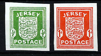 JERSEY 1941 GERMAN OCCUPATION ½d. & 1d. IMPERFORATE Issues SG 1h & SG 2c MNH
