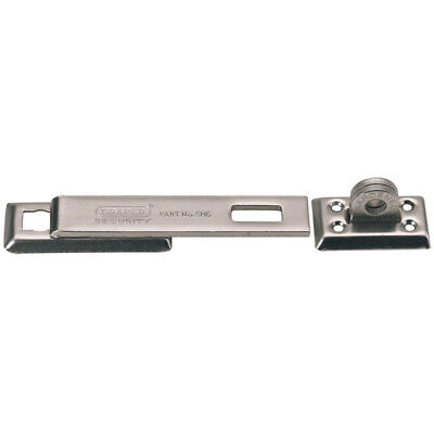 "Draper High Security Hasp and Staple with Fixings Heavy Duty 7"" Bar 63269 SH6"