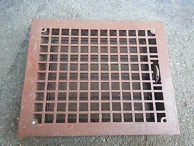 Vintage VICTORIAN Cast Iron Floor Grille 17x14  Heat Grate Register with Louvers