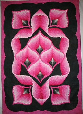 """~ New Quilt Pattern ~ Spectacular Bargello Quilt / Wallhanging ~37""""x52"""" ~"""