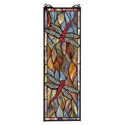 Tiffany Style Creative Flying Dragonflies Stained Glass Window Art Dragonfly New