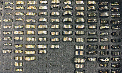 $129 Wholesale Mixed Lot Unisex Wedding Rings Fashion Bands Great Selection