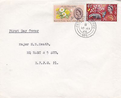 GB 1963 National Nature Week Army Field pMark VGC FDC