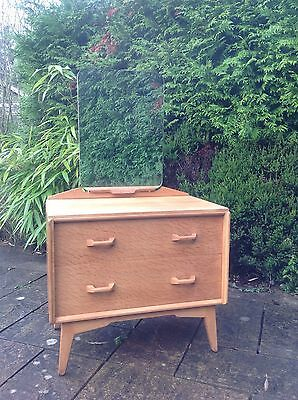 """VINTAGE G PLAN """"E GOMME"""" DRESSING TABLE - 1950's with gold stamp logo"""