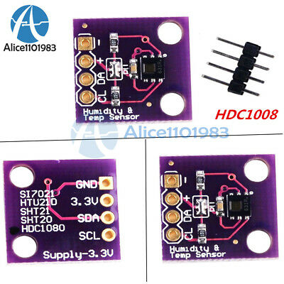 HDC1008 Digital Temperature and Humidity Sensor Breakout Board for Arduino
