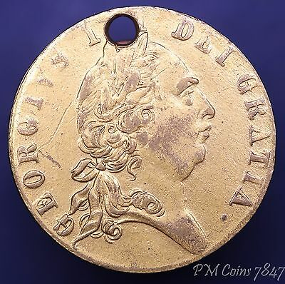 George III brass gaming guinea token 1768 In Memory of the good old days *[7847]