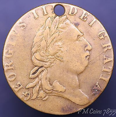 George III brass gaming guinea token 1768 In Memory of the good old days *[7855]