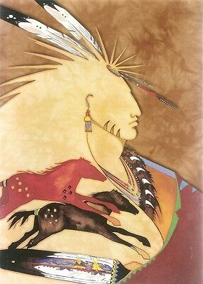 Blank Notecard : NATIVE AMERICAN BRAVE - by Gina Gray & Tree Free!