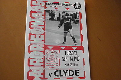Airdrieonians (Airdrie) V Clyde                                          14/9/93