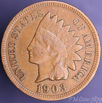 1903 US Indian Head One cent 1c coin [7879]