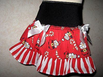 NEW Cool Girls Black Red White Christmas stripe frilly Party Skirt Age 2-3 Gift