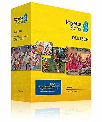 Rosetta Stone V4 TOTALe: German Level 1-5 Set for (PC/Mac) - NEW -FREE SHIPPING