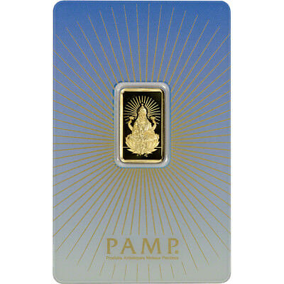 5 gram Gold Bar - PAMP Suisse - Lakshmi - 999.9 Fine in Assay