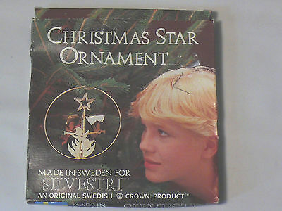 Vintage Made in Sweden Silvestri Christmas Star Rotating Ornament Angel Chime