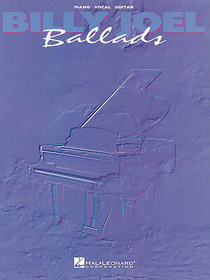 Billy Joel Ballads Piano Sheet Music Guitar Chords 16 Rock Songs ...