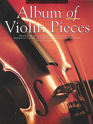 Album of Violin Pieces with Piano Classical Solo Sheet Music 30 Songs Book NEW