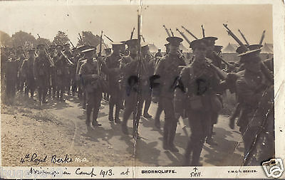 Soldier Group 4th Royal Berkshire Regiment TF Territorials at Shorncliffe 1913