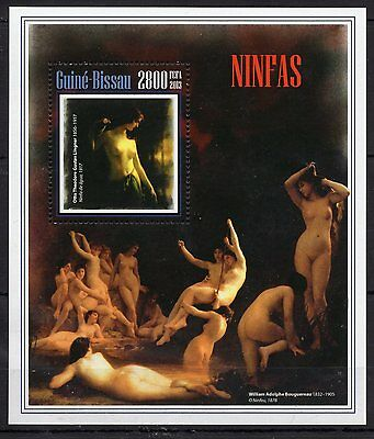 Guinea Bissau 2013 - Art/Painting/Nude  - S/S  MNH**(A102)-9