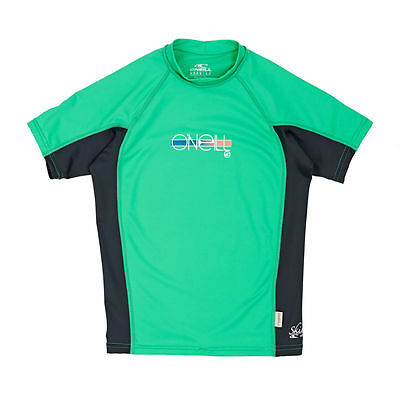 O'Neill Rash Vests - O'Neill Girls Skins Short Sleeve Crew Rash Vest