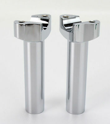 "Chrome 5.5"" Straight Risers for Harley-Davidson"