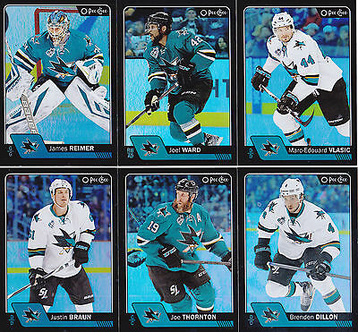 16-17 OPC Joe Thornton /100 Rainbow Black OPeeChee Sharks 2016
