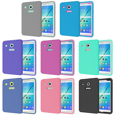 3 in 1 Lightweight Shockproof Hard Case Cover for Samsung Galaxy Tab E 8.0 Table
