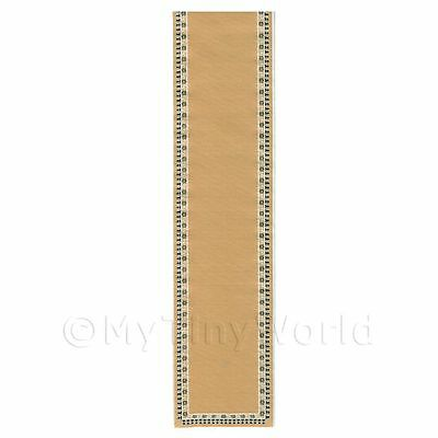 Dolls House Miniature Large Beige Stair Runner With Floral Border (lr3)