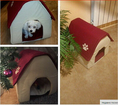 Dog Kennel Cat Puppy House 2 Color Embroidered small footprints Cute Kennel Room