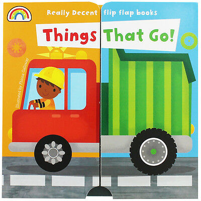 Flip Flap Things That Go (Board Book), Children's Books, Brand New