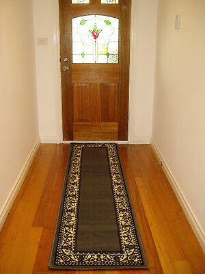 NEW Hall Runner Rug Patterned Traditional Designer Grey FREE DELIVERY