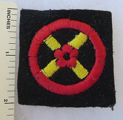 ORIGINAL WW2 Vintage BRITISH ARMY WESTERN COMMAND FORMATION SIGN PATCH