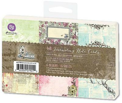 Prima GARDEN FABLE 4x6 Journaling Notecards 45 Sheets Pocket Page 579012