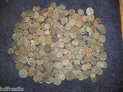 Ancient Roman uncleaned unsorted coins 50g approx 35 - 45 coins per bag