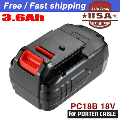 New 3.0Ah For PORTER-CABLE PC18B 18-Volt NiCd Cordless Battery Pack US Shipping