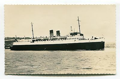 Dover - France ferry 'Shepperton' - real photo postcard