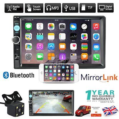 "7"" Bluetooth Double 2 Din In Dash Car Stereo Radio MP3 MP5 Player Touch Screen"