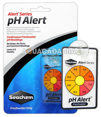 SEACHEM pH ALERT CONTINUOUS MONITOR SENSOR NO TESTS OR STRIPS AQUARIUM FISH TANK