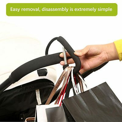 Black Baby Stroller Pram Hook Shopping Bag Hanger For Baby Car Carriage Buggy