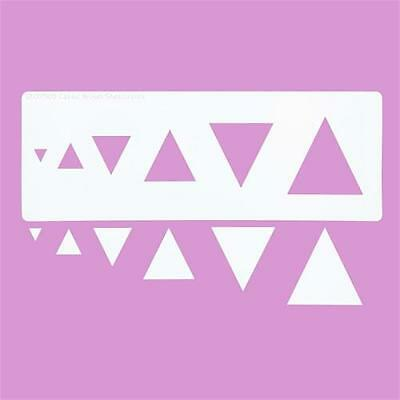 Cakecraft Triangle Stencils By Cassie Brown for Cake Decorating