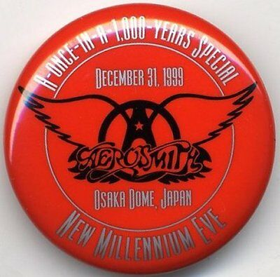 Aerosmith Fan Club Badge/Button Osaka Dome, Japan 31/12/99