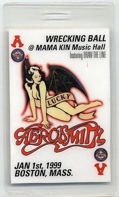 Aerosmith Fan Club Plastic Laminate Backstage Pass Boston, Mass