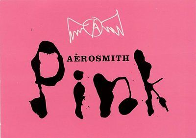 Aerosmith Fan Club Postcard Pink New Single 12.12.97