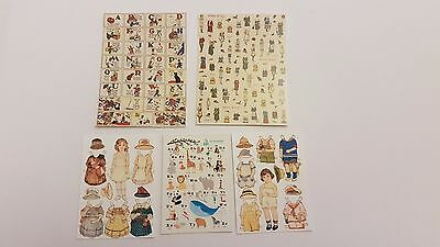 Vintage toy posters, cut outs for 1:12th scale dollshouse KIT dolls toyshop bear