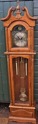 Fabulous Looking Quality Modern 31 Day Longcase Clock With Glass Door To Front
