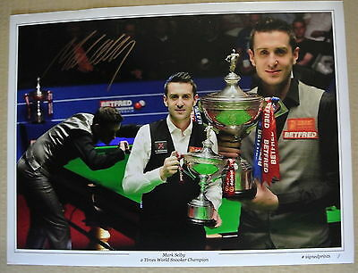 A 16 x 12 inch print personally signed by Snooker Player Mark Selby.